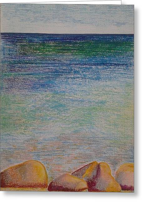 Stones By The Sea Greeting Card by Taruna Rettinger