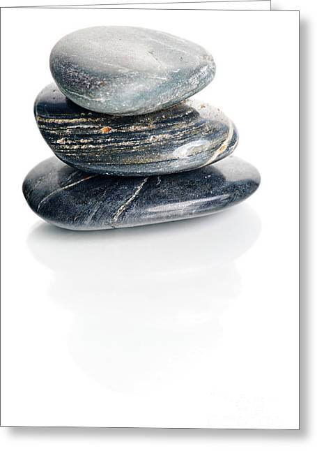 Stones Greeting Card by HD Connelly