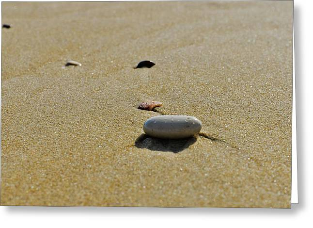 Stones In The Sand Greeting Card