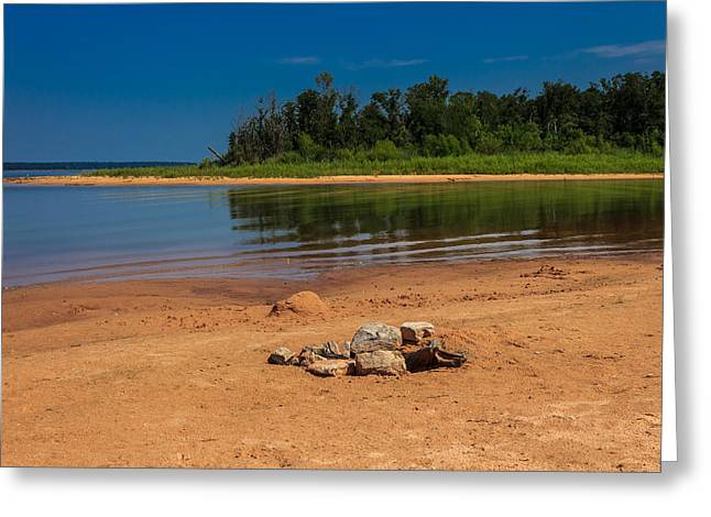 Stones On The Beach Greeting Card by Doug Long