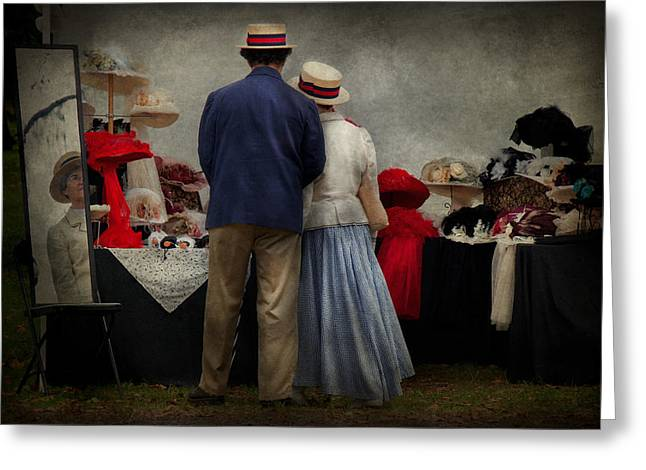 Store - The Hat Stand  Greeting Card by Mike Savad