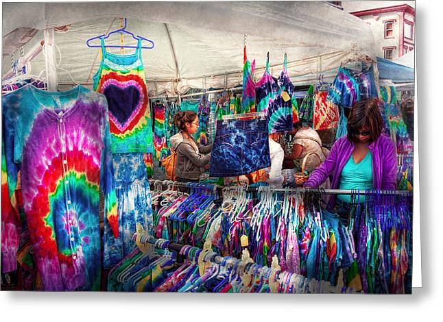 Storefront - Tie Dye Is Back  Greeting Card by Mike Savad