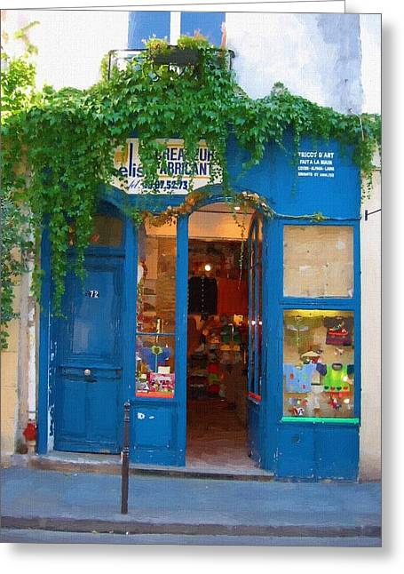 Storefront In Paris France Greeting Card