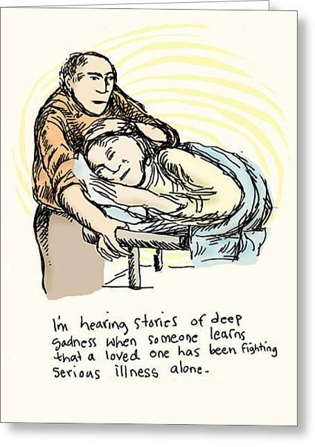 Stories Of Deep Sadness Greeting Card by Erella Ganon