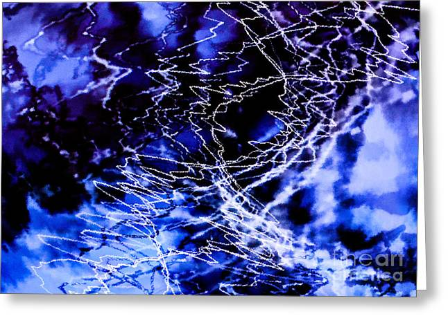 Storm Abstract Greeting Card by Tashia Peterman