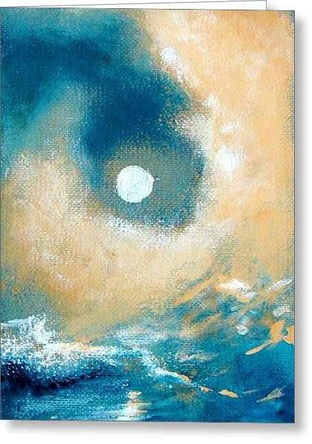 Greeting Card featuring the painting Storm by Ana Maria Edulescu