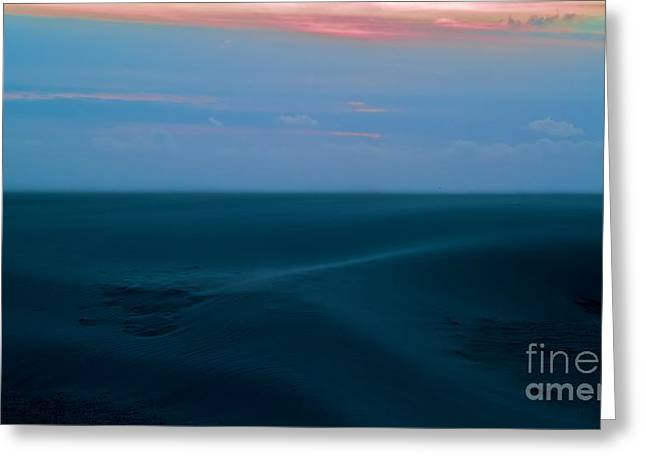 Storm And Blued Dunes Greeting Card