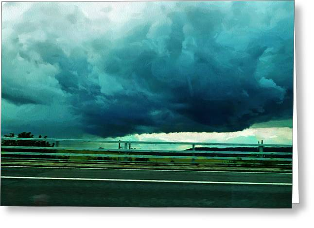 Greeting Card featuring the digital art Storm Approaching  by Steve Taylor