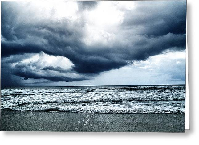 Storm At Sea Greeting Card by Barbara Middleton