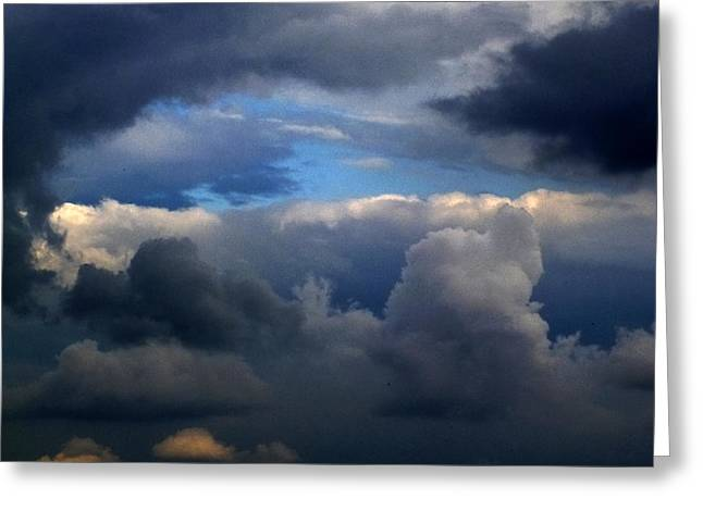 Storm Brewing Greeting Card by Frank Blakely