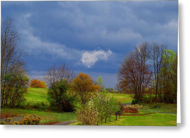 Greeting Card featuring the photograph Storm Cell by Kathryn Meyer
