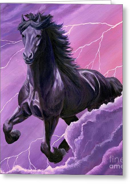 Greeting Card featuring the painting Storm Chaser by Sheri Gordon