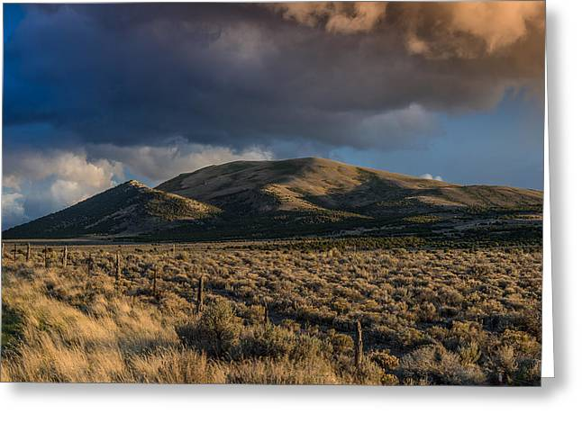 Storm Clearing Over Great Basin Greeting Card by Greg Nyquist