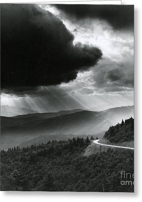 Storm Cloud Greeting Card by Bruce Roberts and Photo Researchers