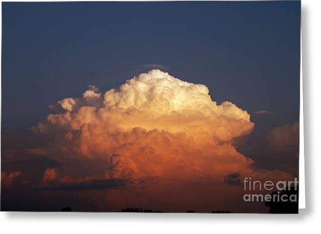 Storm Clouds At Sunset Greeting Card