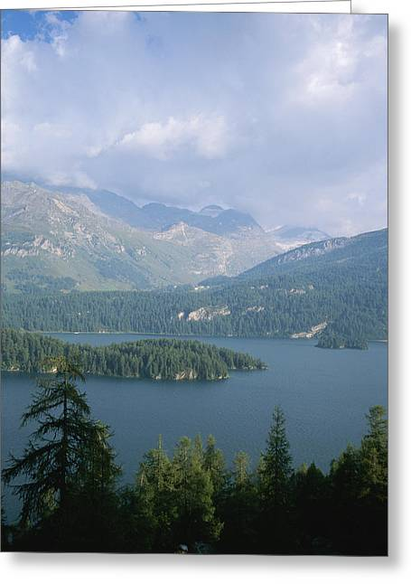 Storm Clouds Gather Over Lake Segl Greeting Card by Taylor S. Kennedy
