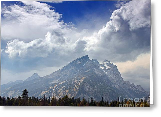 Storm Clouds Over The Grand Tetons Greeting Card