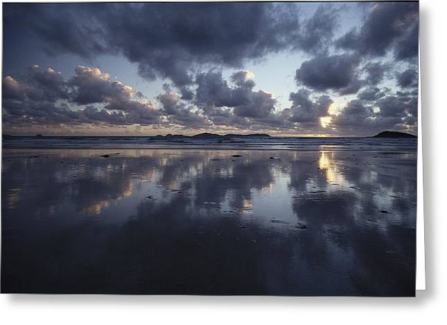 Storm Clouds Over Tidal Flat Greeting Card