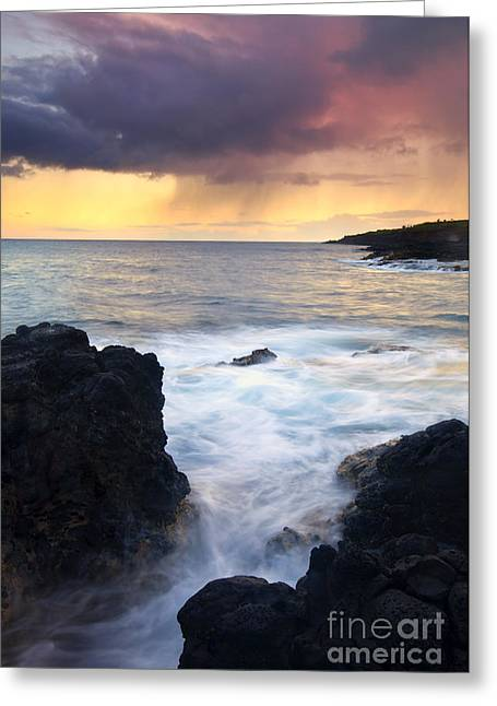 Storm Fissure Greeting Card by Mike  Dawson
