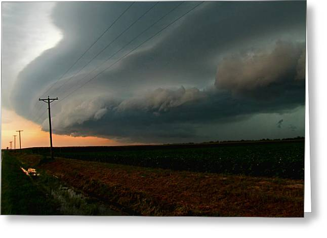 Greeting Card featuring the photograph Storm Front by Debbie Portwood