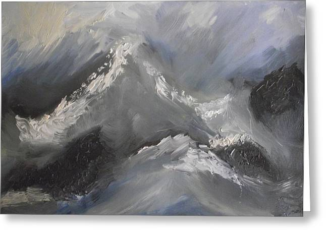Greeting Card featuring the painting Storm Gathering by Martin Blakeley