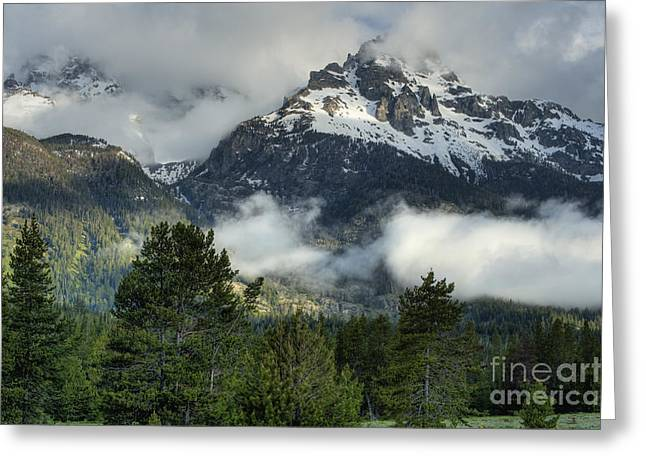 Storm  In The Tetons Greeting Card by Sandra Bronstein