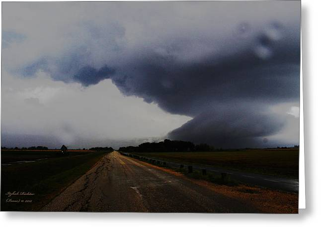 Storm Greeting Card by Itzhak Richter