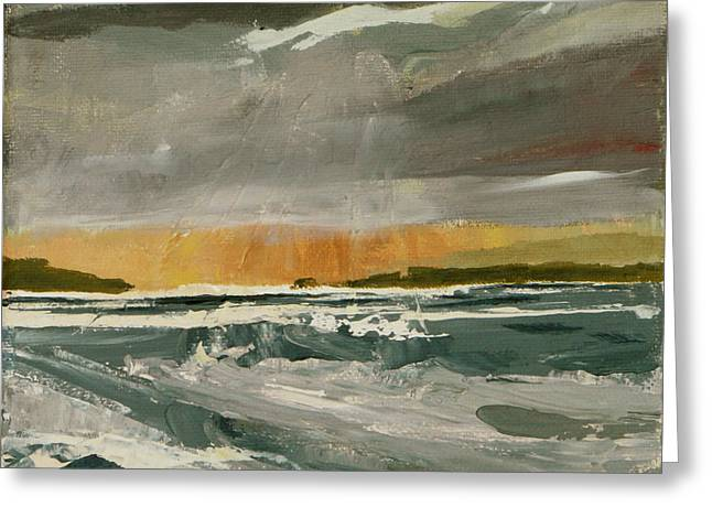 Storm Light Greeting Card by Jo Appleby
