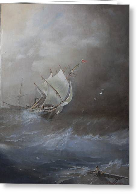 Storm On The Arctic Ocean Greeting Card by Oleg Gorovoy