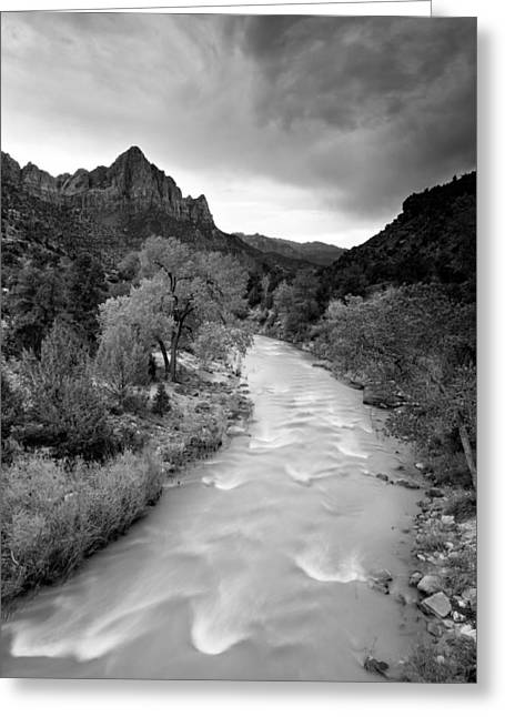 Storm Over The Watchman Greeting Card