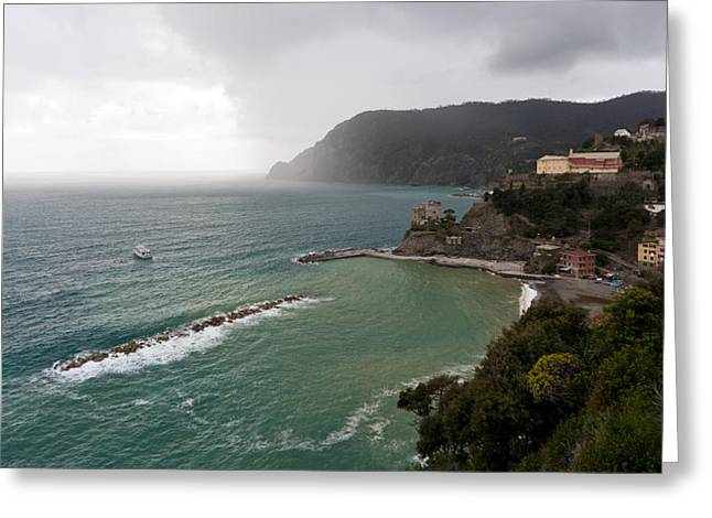 Storm Sets In Greeting Card by Mike Reid