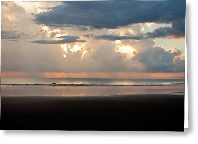 Storm Sunset Greeting Card by Anthony Doudt