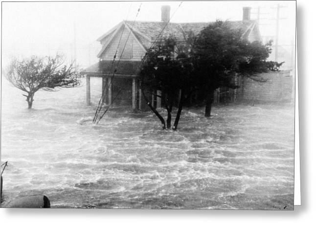 Storm Surge During Hurricane Greeting Card by Science Source