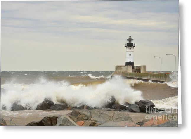 Stormy  Greeting Card by Whispering Feather Gallery