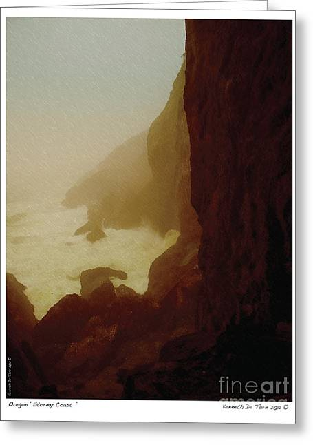 Stormy Coast Greeting Card by Kenneth De Tore
