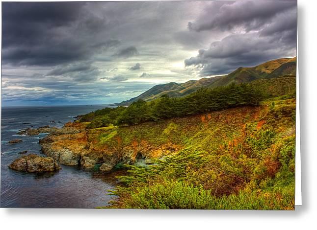 Stormy Coast Greeting Card by Matt  Trimble