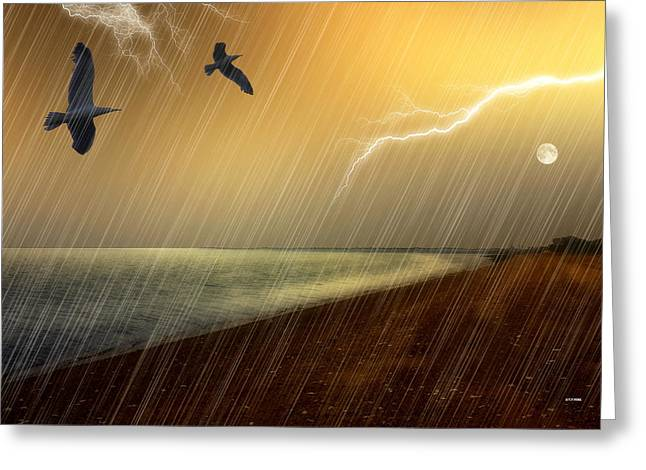 Stormy Monday Greeting Card by Tom York Images