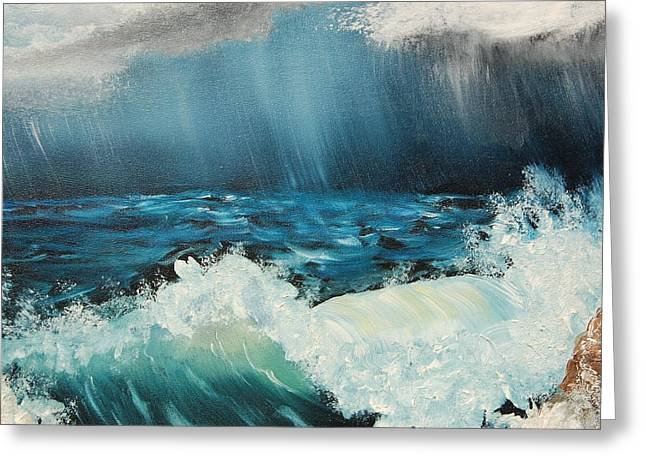 Stormy Night Greeting Card by Katheryn Napier