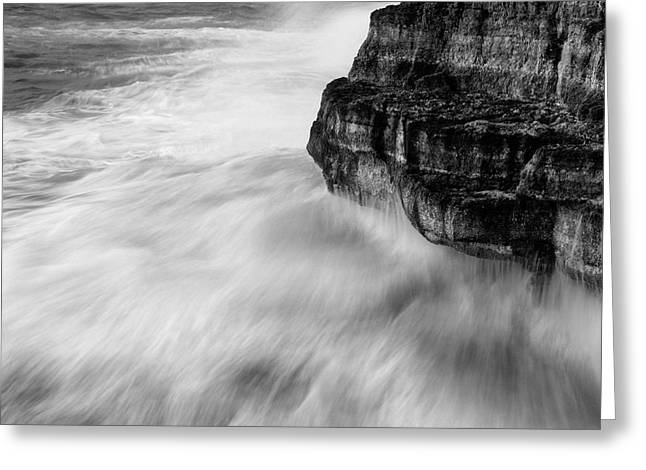 Greeting Card featuring the photograph Stormy Sea 1 by Pedro Cardona