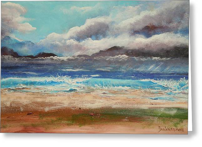 Stormy Shore Greeting Card