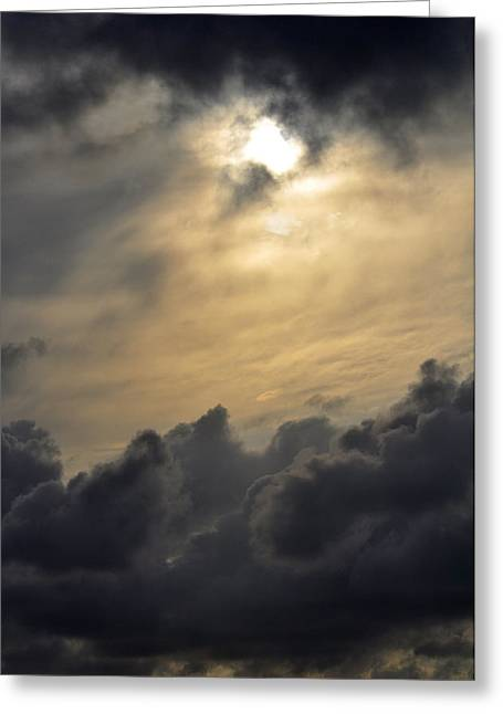 Greeting Card featuring the photograph Stormy Skies by Sarah McKoy