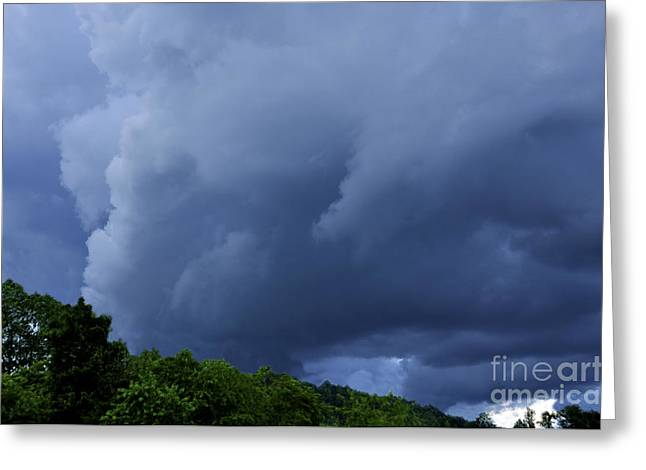 Stormy Summer Sky Greeting Card by Thomas R Fletcher