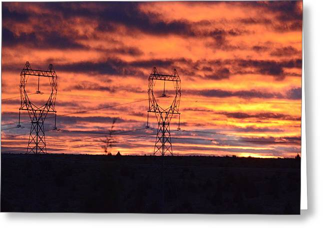 Stormy Sunrise Greeting Card by Linda Larson