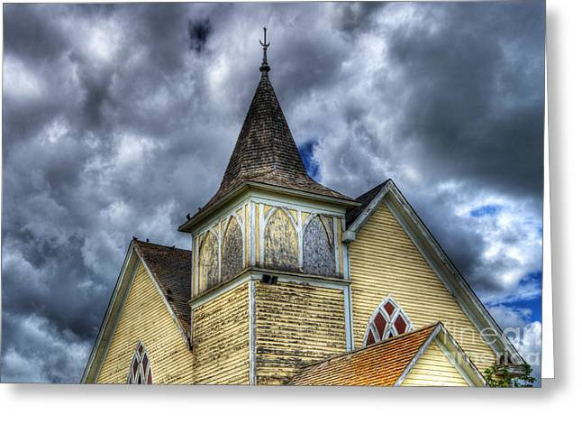 Stormy Times Greeting Card by Bob Christopher