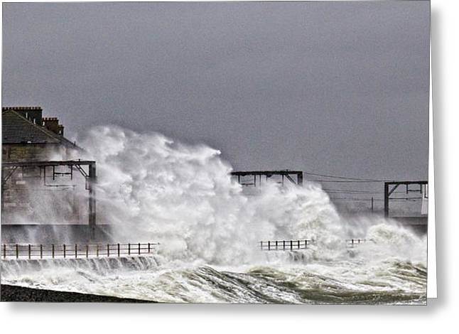 Stormy Weather Greeting Card by Fiona Messenger