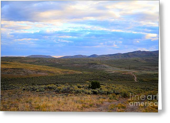 Stormy Wyoming Sunrise I Greeting Card