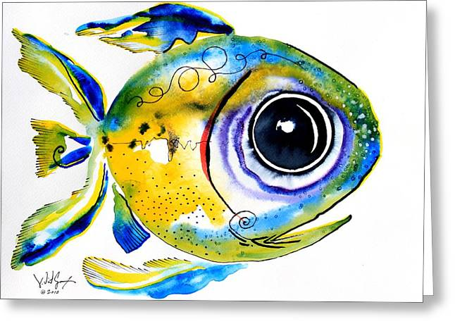 Stout Lookout Fish Greeting Card by J Vincent Scarpace
