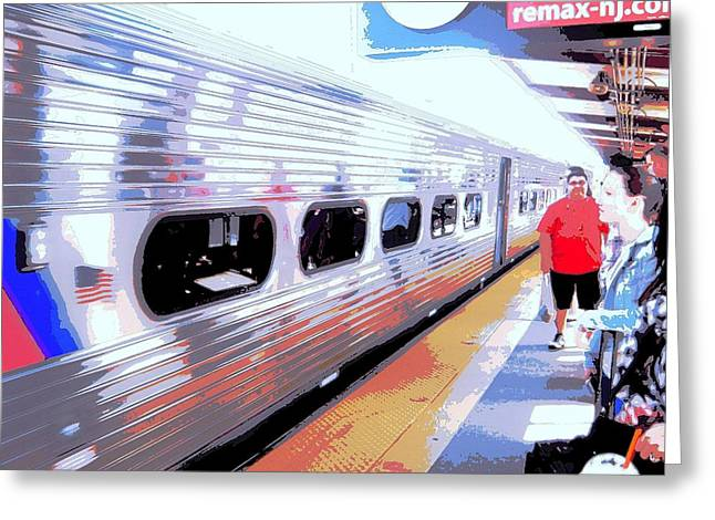 Strangers Almost On A Train Greeting Card by Don Struke