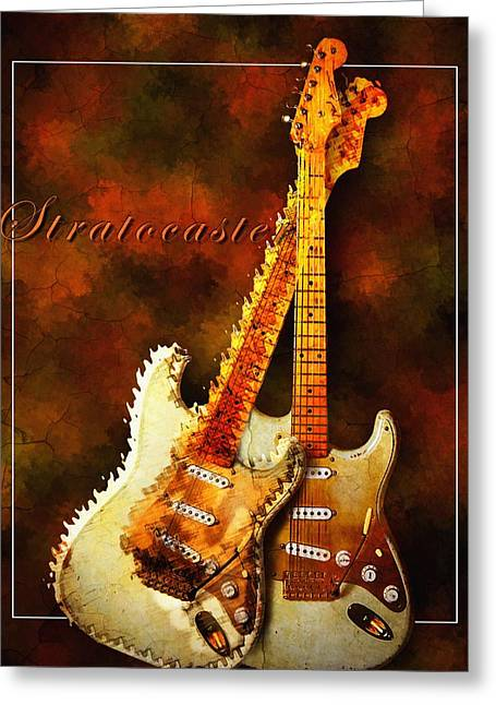 Stratocaster Greeting Card by Robert Smith