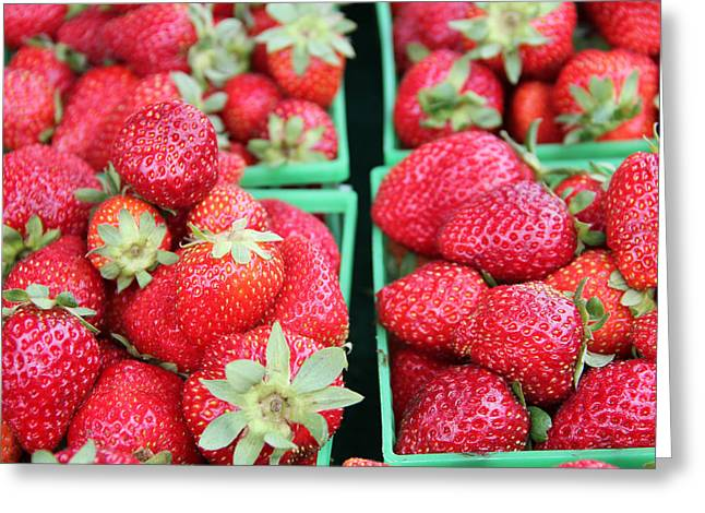 Strawberries Greeting Card by Kim French